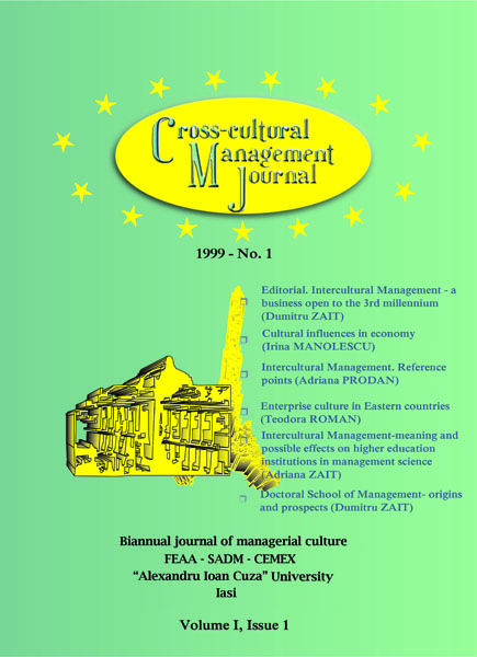 Volume I, Cross-Cultural Management Journal
