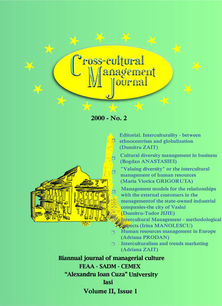 Volume II, Cross-Cultural Management Journal