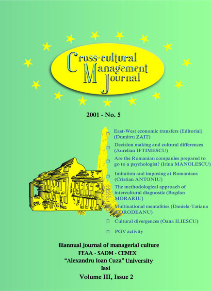 Volume III, Cross-Cultural Management Journal