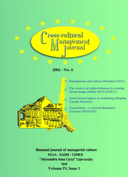 Volume IV, Cross-Cultural Management Journal