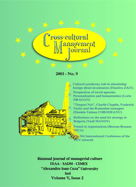 Volume V, Cross-Cultural Management Journal