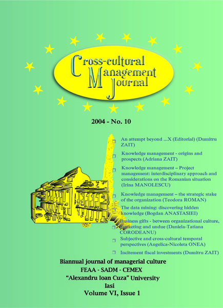 Volume VI, Cross-Cultural Management Journal