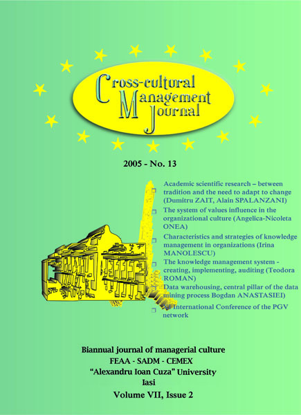 Volume VII, Cross-Cultural Management Journal