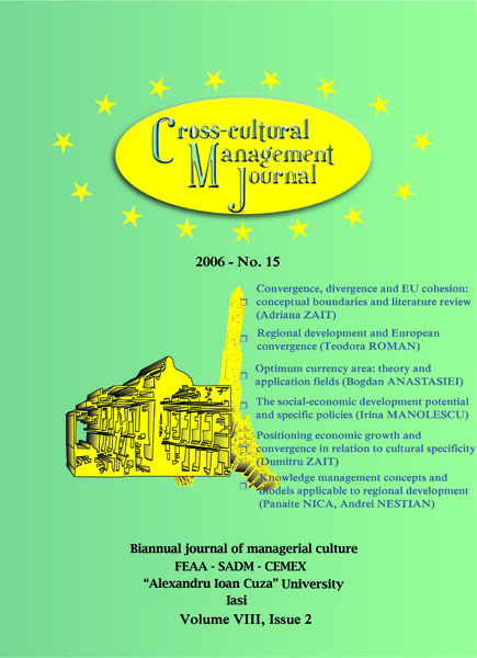 Volume VIII, Cross-Cultural Management Journal