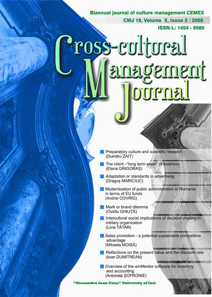 Volume X, Cross-Cultural Management Journal