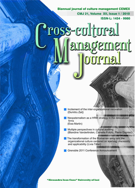 Volume XII, Cross-Cultural Management Journal