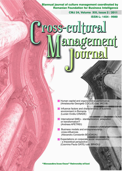 Volume XIII, Cross-Cultural Management Journal
